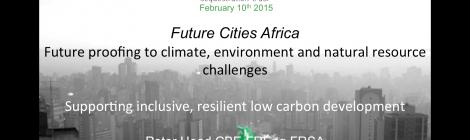 Future Cities Africa - Cities Alliance Webinar